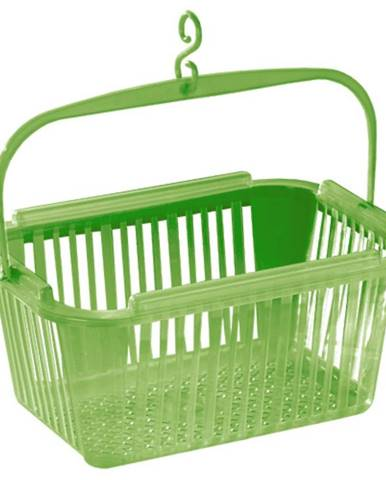 Košík na kolíčky 25x19x12cm, zelený 43963001