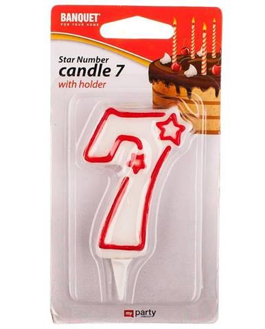 """Narozeninová svíčka """"7"""" 4430107"""