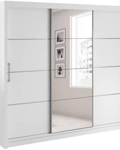 Skříň Verona 220cm Bílý/Zrcadlo