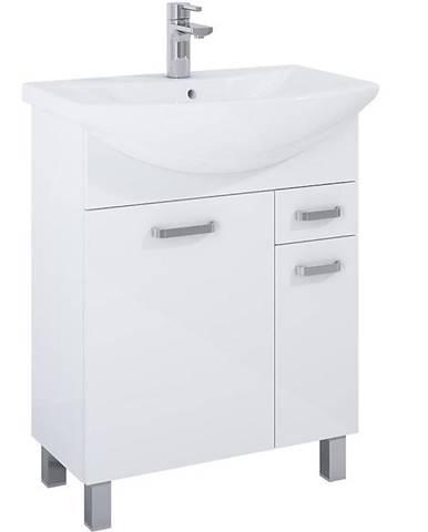 Skříňka s umyvadlem bílá Uno 2D1S 65