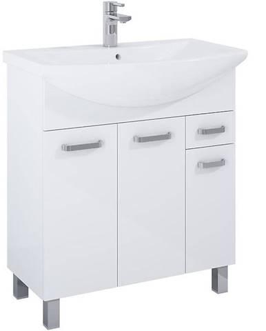 Skříňka s umyvadlem bílá Uno 3D1S 75