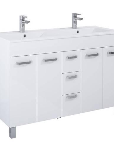 Skříňka s umyvadlem bílá Uno 4D3S 120