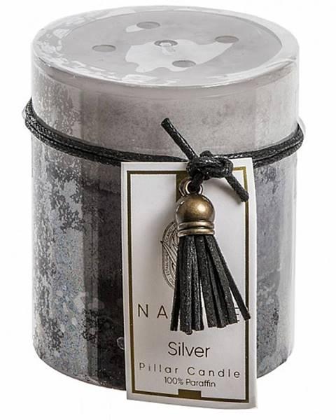 BAUMAX Vonná svíčka 'silver tinsel' SW04202