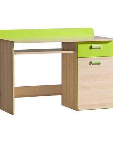 Psací Stůl Lorento 120cm Jaseň Coimbra/Zelená