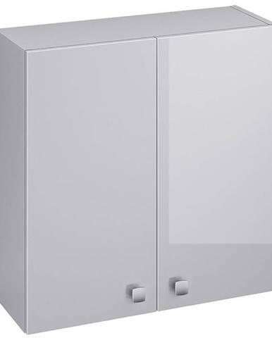 Závěsná skříňka šedá Rubid 2D0S 60