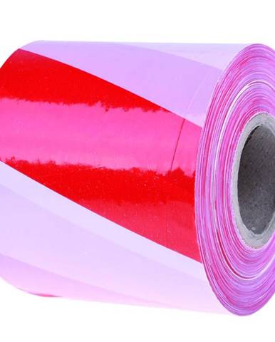 Páska bezpečnostní červenobílá 75mm/100 m