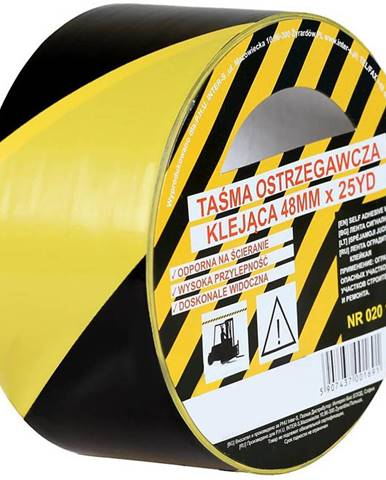 Páska lepící žluto-černá 48mmx25yd