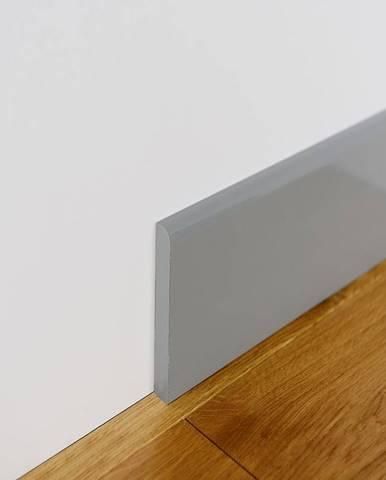 Podlahová lišta MDF Foge LB1 100 šedá polmat