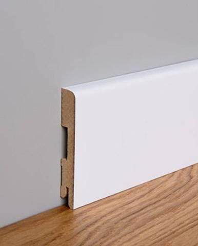 Podlahová lišta MDF Foge LB1 120 bílá polmat