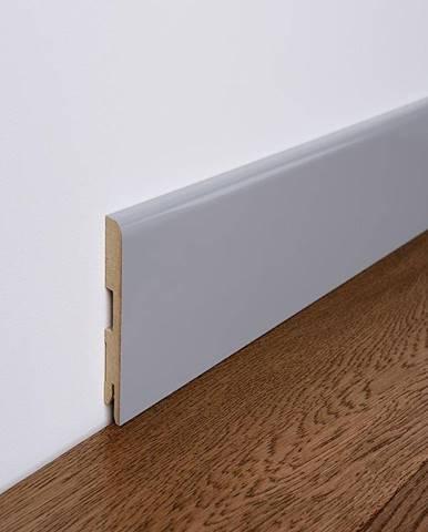 Podlahová lišta MDF Foge LB1 80 šedá polmat