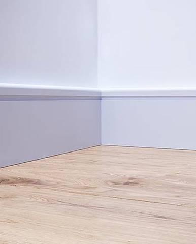 Podlahová lišta MDF Foge LB2 120 bílá polmat