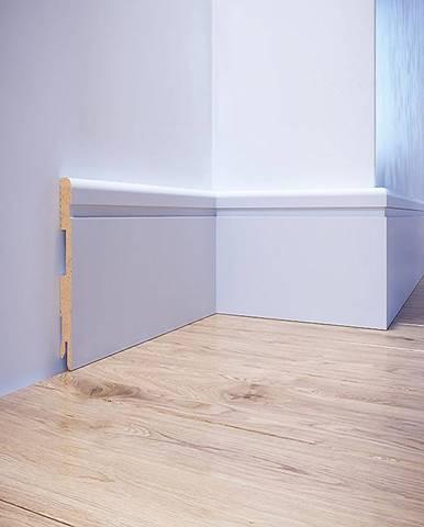 Podlahová lišta MDF Foge LB2 80 bílá polmat