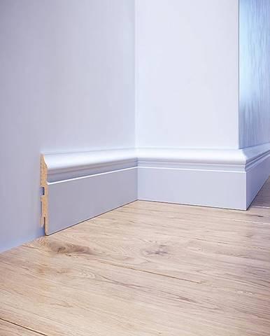 Podlahová lišta MDF Foge LB3 80 bílá polmat