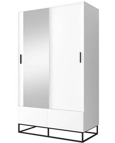 Skříň Enjoy 130cm Bílý/Zrcadlo