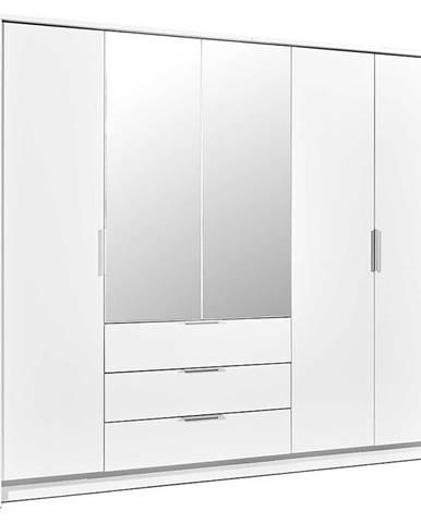 Skříň Togo 255cm Bílý/Zrcadlo