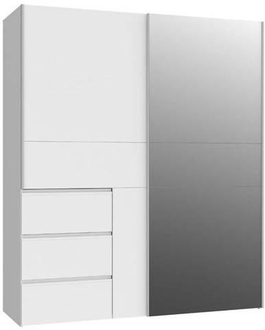 Skříň Winn 170cm Bílý/Zrcadlo