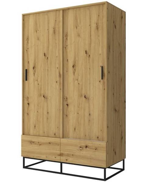 BAUMAX Skříň Ejoy 130cm Dub Artisan