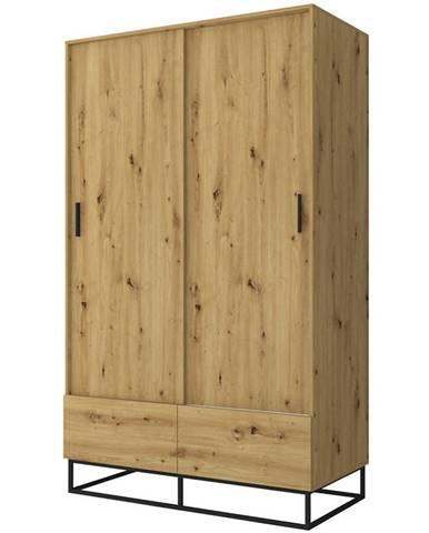 Skříň Ejoy 130cm Dub Artisan