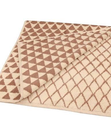 Ručník žakár Excellent 50x100 triangle béžový 500g/m2