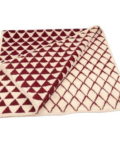 Ručník žakár Excellent 50x100 triangle vínový 500g/m2