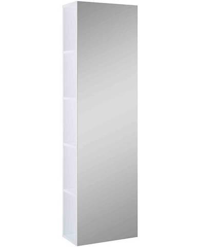 Vysoká skříňka se zrcadlem bílá Amoria 43