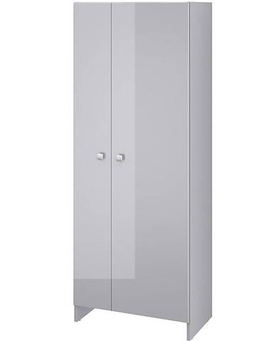 Vysoká skříňka šedá Rubid 2D0S 60