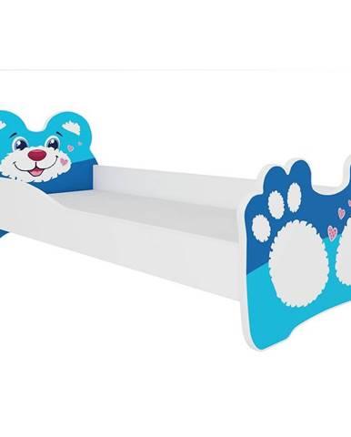 Dětská Postel Bear 140cm Modry