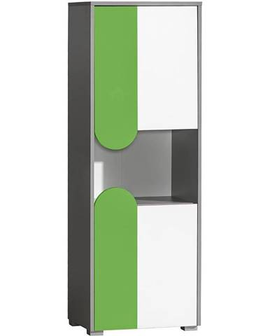 Skříň Futuro 50cm Zelený/Bílý/Grafit
