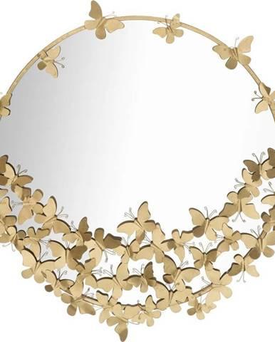 Nástěnné zrcadlo ve zlaté barvě Mauro Ferretti Round New, ø 91 cm