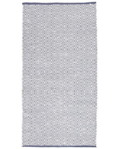 Ručně Tkaný Koberec Carmen 1, 60/120cm, Tm.modrá