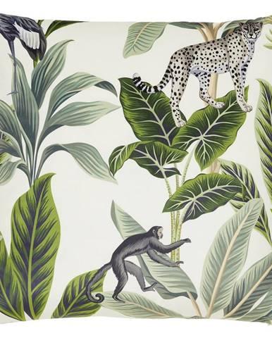 Dekorační Polštář Junglelife, 60/60cm, Bílá