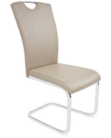 Jídelní Židle Conny, Hnědá Koženka