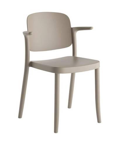 Plastová Židle S Područkami Plaza Šedá