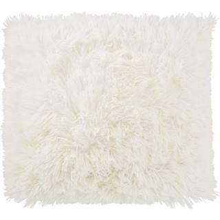 Polštář Ozdobný Fluffy, 45/45cm, Bílá