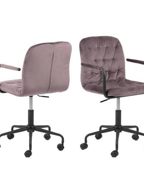 Möbelix Kancelářská Židle Wendy B: Starorůžová , Samet