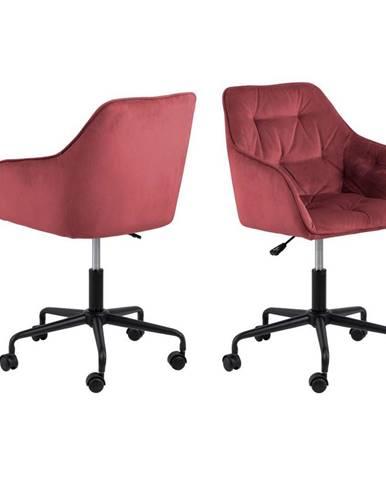 Kancelářská Židle Brooke B: Korálová, Samet