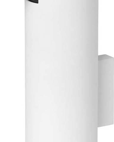 Bílý nástěnný dávkovač na mýdlo Blomus
