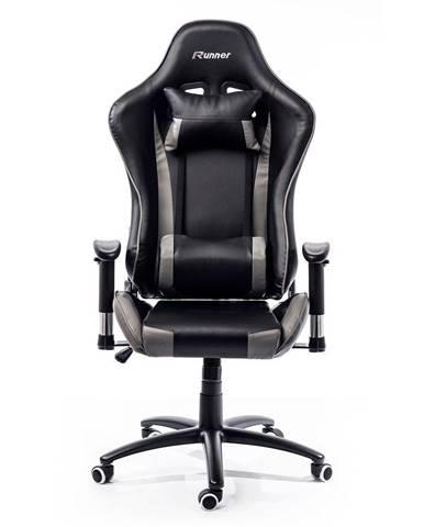 ADK Trade s.r.o. Herní židle ADK Runner, černá/šedá
