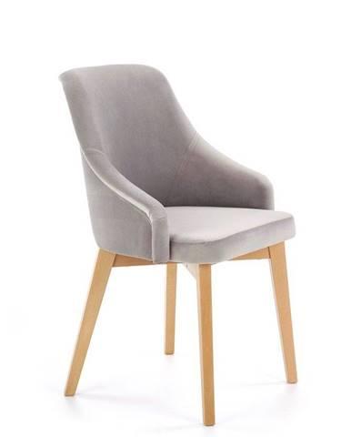 Halmar Jídelní židle Toledo 2, medový dub/světle šedá