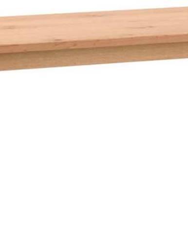 Dřevěná jídelní lavice v dubovém dekoru Rowico Melfort, 144 x 38 cm
