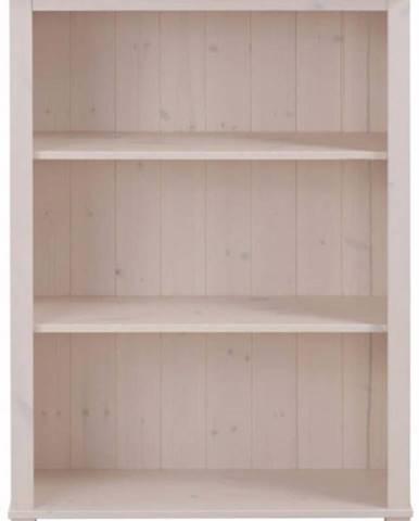 Nízká bílá knihovna z masivního borovicového dřeva Støraa Pinto