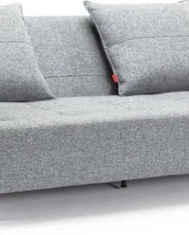Šedá rozkládací pohovka s područkami Innovation Long Horn Twist Granite