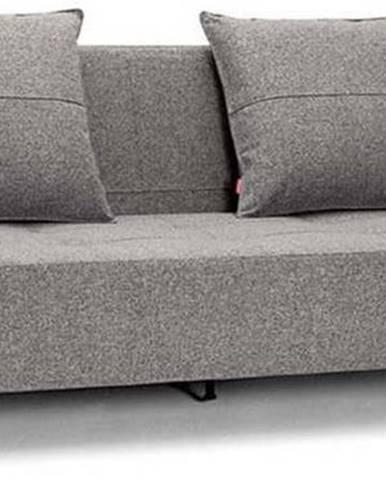 Šedobéžová rozkládací pohovka Innovation Long Horn Twist Granite
