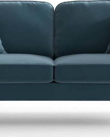 Světle modrá sametová pohovka My Pop Design Auteuil