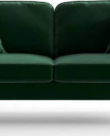 Zelená sametová pohovka My Pop Design Auteuil