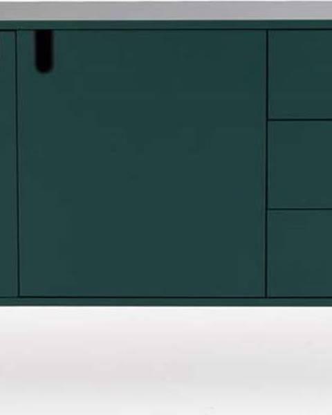Tenzo Tmavě zelená komoda Tenzo Uno, šířka 171cm