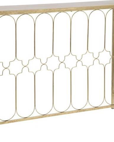 Konzolový stolek s konstrukcí ve zlaté barvě Mauro Ferretti Balcony, 112 x 31 cm