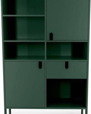 Tmavě zelená skříň Tenzo Uno, výška 176cm