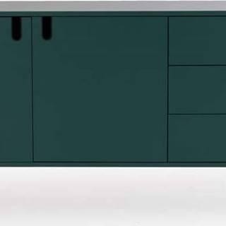Tmavě zelená komoda Tenzo Uno, šířka 171cm