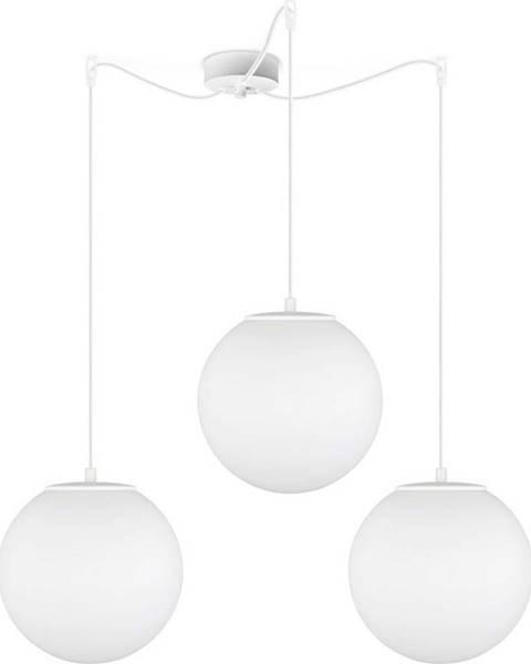 Sotto Luce Bílé tříramenné závěsné svítidlo Sotto Luce Tsuki Matte, ⌀ 25 cm